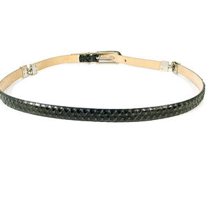 Ellen Tracy Accessories - ELLEN TRACY Italian Leather Snakeskin Skinny Belt